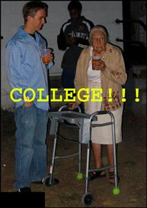 College! A great place to pick up...um...old drunk ladies!